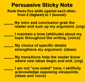 persuasive essay note cards Since you are to write a thesis statement for your narrative essay, what you will be writing will be a tad different from when you are writing other types of essays such as expository, persuasive, and analytical essaysthesis statements of narrative essays are often based on personal experiences of a writer, which you can rarely find on other types of essays, with an aim to impart an important.